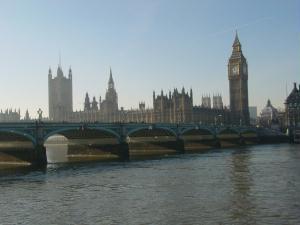 Big Ben e o Parlamento.
